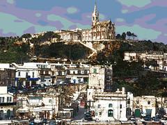Mgarr twist (Maximus DiFermo) Tags: houses cemetry colour church port gothic malta maximus gozo affinity mgarr difermo pentaxart