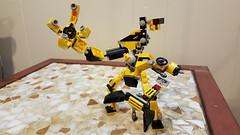 Lego Series 6 Mixel Moc, Con Struct. (miketvas) Tags: robot lego series mech moc mixel mixels legomixelmoc legomixelsmoc