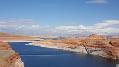 Lake created from the Glen Canyon Dam