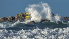 Impact .... (Herb) Tags: rock wave bretagne vague rocher balise crashingwave