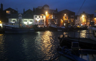Weymouth Harbour - boats and pubs
