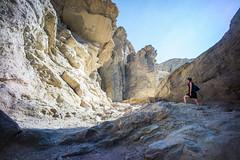 Ashlyn, Golden Canyon, Death Valley. (Matt Benton) Tags: digital deathvalley goldencanyon voigtlandersuperwideheliar15mmf45 sonyalpha7 trip2015
