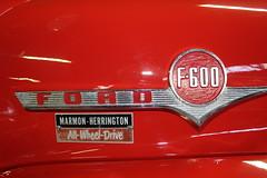 1957 Ford F-600 fire truck, detail (Davydutchy) Tags: show november holland classic ford netherlands car truck fire nederland firetruck paysbas feuerwehr brandweer niederlande beurs eelde allwheeldrive herrington pompiers 2015 marmon oldtimerbeurs hasiči marmonherrington požárnísbor