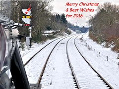 Merry Christmas & Best Wishes for 2016......... (loose_grip_99) Tags: christmas xmas uk railroad england snow train leicestershire january tracks engine rail railway steam greetings 280 greatcentral 8f 2013 48624