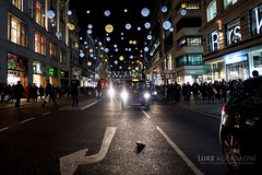 Taxis on Oxford Street (Luke Agbaimoni (last rounds)) Tags: oxfordcircus london taxis taxi cab cabbie night christmas xmas lights city urban