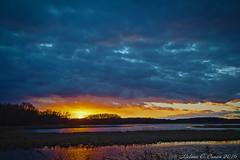 Sunset (EllieJanie Maybelline) Tags: sunset bombayhook nwr nationalwildliferefuge clouds canon7d canon1022mm de delaware