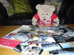 Decisions, decisions... (pefkosmad) Tags: tedricstudmuffin ted teddy bear cute soft stuffed toy animal fluffy plush calendar 2017 photos photographs choice choose selection newyear dates months time furry