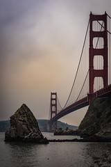"""Last Shot of the Day"" (Week 23/52) (milmonfharrison) Tags: rock clouds sausalito bridge goldengatebridge sanfrancisco california northerncalifornia marincounty fortbaker sanfranciscobay pacificocean ocean bay d750 d750fx nikond750"