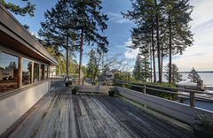 A Nice House in West Vancouver (Romain Collet) Tags: west north vancouver van bc british columbia canada house deck patio wood sky blue water sea ocean mountains trees luxury views nikon