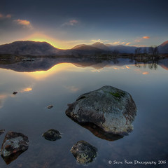 Lochan na h'Achlaise -Rannoch Moor (silverlarynx) Tags: scotland highlands rannoch moor evening dusk lochan loch nahachlase reflections tranquil