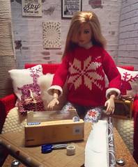 Christmas with Max and Juno (Elrenia_Greenleaf) Tags: maxandjuno max juno 16 16thscale 6thscale barbie barbieroom barbiediorama fashiondolldiorama
