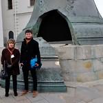 Mit Guide Tatiana vor der Zarenglocke