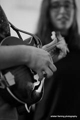 IMG_0161 Willem on Mandolin (marinbiker 1961) Tags: quick willem mandolin celticmusicradiostation bw emily glasses blackandwhite people monochrome guitar love