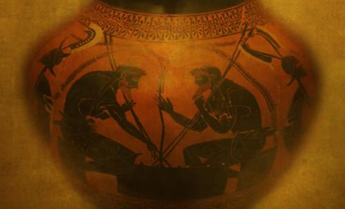 "Petteia - Ludus Latrunculorum  / Iconografía de las civilizaciones helenolatinas • <a style=""font-size:0.8em;"" href=""http://www.flickr.com/photos/30735181@N00/31678492634/"" target=""_blank"">View on Flickr</a>"