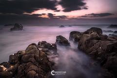 Stopped scene (katsumasa0313) Tags: sea seaacape sunset sigma slowshutter sky wave wind coast cloud rock beach amakusa dp0quattro japan