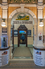 Dunedin Railway Station Ticket Office (II) (deltics) Tags: trainstation dunedin nz architecture hdr southisland newzealand interior buildings otago