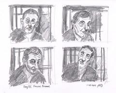 Freeze Frames (jimblodget) Tags: sketch faces people pencil