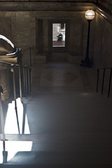 Boston library (awakethetrees) Tags: boston library stairs light reflect lookthrough window framing