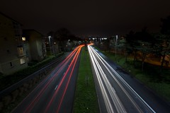 Grapes Hill (Matthew J Waterman) Tags: grapes norfolk england long exposure norwich car sigma 1020 dark darkness street streetlight light