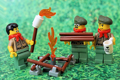 Scout Life: First Camp Fire (Lesgo LEGO Foto!) Tags: lego minifig minifigs minifigure minifigures collectible collectable legophotography omg toy toys legography fun love cute coolminifig collectibleminifigures collectableminifigure scoutlife scout camp campfire wood forest scouts fire