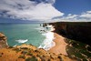 The 12 Apostles -Distant Erosion (Heaven`s Gate (John)) Tags: 12apostles greatoceanroad australia johndalkin heavensgatejohn sea oceam water landscape waves blue sky sunshine seascape outdoors 25faves