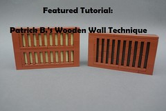 New Featured Tutorial! (soccersnyderi) Tags: lego moc creation wall wooden technique tutorial howto guide construction method