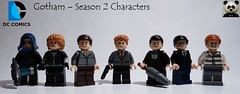 Gotham – (Season 2 Characters) (Random_Panda) Tags: lego figs fig figures figure minifigs minifig minifigures minifigure purist purists character characters film films movie movies television tv gotham season 2 two jim james gordon batman bruce wayne joker riddler penguin the catwiman mr mister freeze