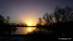 Sunset (ditmaliepaard) Tags: sunset haarsteegsewiel haarsteeg a6000 sony water bomen trees sneeuw opdefiets zonsondergang