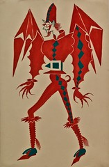 "Custom design for the Devil in the ""Auto da Alma"" by Gil Vicente"" staged by Almada Negreiros, played by Rey Colaço Robles Monteiro Company (1965) - José de Almada Negreiros (1893-1970) (pedrosimoes7) Tags: josédealmadanegreiros caloustegulbenkianmuseum moderncollection lisbon portugal creativecommons cc museu musée museum autodaalma gilvicente devil diabo diable reycolaçoroblesmonteirocompany masterpiecemansion ✩ecoledesbeauxarts✩ artgalleryandmuseums"