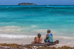 The Granddaughter and the Grandmother (inverson2015) Tags: san andres colombia sea carribean generation granddaughter grandmother island travel mood tranquil torquoise latin america love landscape canon 6 d 70200 tan nature beauty beach water blue art people family