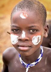 Mursi Boy (Rod Waddington) Tags: africa african afrika afrique äthiopien ethiopia ethiopian ethnic etiopia ethnicity ethiopie etiopian omo omovalley outdoor mursi tribe traditional tribal culture cultural portrait people painted beads boy child