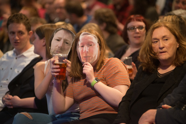 Audience getting into the Limmy spirit