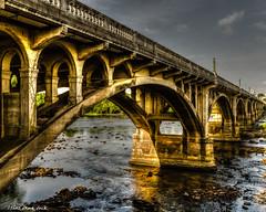 Gervas Street Bridge At Sundown (that_damn_duck) Tags: bridge sc arch southcarolina columbiasc hdrpro