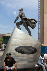 "2015-05-23~30 New York City - Harlem (Martin Ujlaki-All photos ""copyright Martin Ujlaki"") Tags: newyorkcity sculpture statue harlem adamclaytonpowelljr martinujlaki 2015052330"