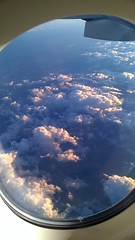 window seat (M0JRA) Tags: sky people clouds buildings flying dubai aircraft emirates views airbus a380 roads airports sites