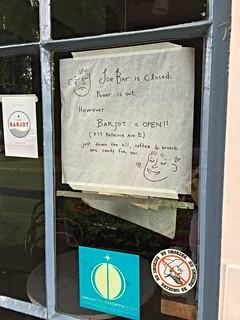 Joe Bar is Closed
