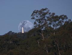 Moonrise behind Flinders Column, Mt Lofty Summit, Adelaide, South Australia (padraic_koen) Tags: adelaide southaustralia flinderscolumn mtloftysummit