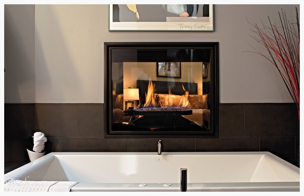 Town & Country TC36 see thru fireplace
