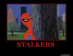 Stalkers meme (dylan.unknown5150) Tags: tree dark poster humor spiderman stalkers meme behind hiding stalking stalked