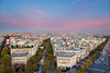Paris Twilight (Nomadic Vision Photography) Tags: sunset paris france pastels elegant arcdetriomphe classicalarchitecture jonreid tinareid nomadicvisioncom