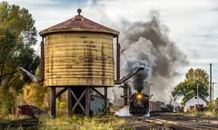 Cumbres Turn leaves Chama (kdmadore) Tags: railroad train colorado steam chama freight steamengine narrowgauge riogrande steamlocomotive antonito cumbrestoltec drgw denverriograndewestern k36