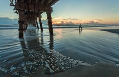 Under the Sunglow Fishing Pier. (Debajo del muelle). (Samuel Santiago) Tags: beach digital sunrise landscape pier florida daytonabeach fineartphotography canonef1740mmf4l canon5dmkii samuelsantiago sunglowfishingpier sammysantiago