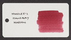 Noodler's Mandalay Maroon - Word Card