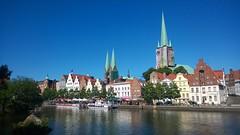 Lübeck (skumroffe) Tags: river germany deutschland marienkirche lübeck tyskland stmaryschurch lubeck schleswigholstein trave petrikirche flod hansestadtlübeck