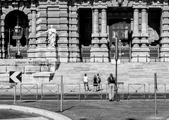 (Groovylator) Tags: road street travel people bw white holiday black rome still streetphotography sights