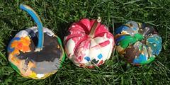 3 colorful pumpkins (Martin LaBar (going on hiatus)) Tags: colorful painted pumpkins maryland otoo cheerful cucurbitaceae decorated baltimorecounty cucurbita