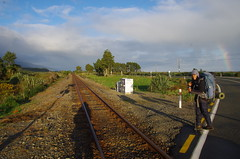 Rail crossing (4seasonbackpacking) Tags: teararoatrail teararoa tatrail ta nobo winter tramping backpacking hiking walking newzealand southisland nz 4seasonbackpacking fourseasonbackpacking toots achara hobos hobo rail railtrack railcrossing crossing
