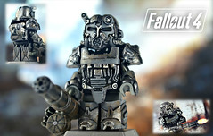 LEGO Fallout 4 : T-60 Power Armor (MGF Customs/Reviews) Tags: boy army power lego tech 4 armor pip figure 111 vault custom bethesda breakthrough minigun fallout arealight minifigure t60 brickarms brickzalive