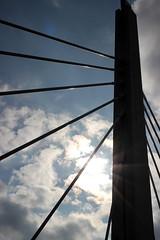 "Structure (""Borg"") Tags: bridge clouds sunny milwaukee sunspot walkerspoint milwaukeewisconsin"
