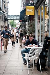 On the Phone (Shane_Henderson) Tags: street summer england people bird london westminster unitedkingdom xseries embankmenttubestation cityofwestminster villersstreet fujifilmxe2 fujinonlensxf27mmf28 embankmenttrainstation